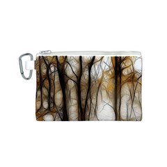 Fall Forest Artistic Background Canvas Cosmetic Bag (S)