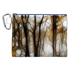 Fall Forest Artistic Background Canvas Cosmetic Bag (xxl)