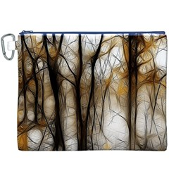 Fall Forest Artistic Background Canvas Cosmetic Bag (XXXL)