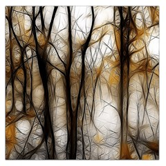 Fall Forest Artistic Background Large Satin Scarf (square)