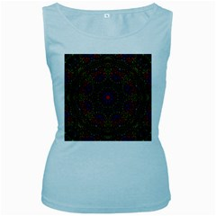 Rainbow Kaleidoscope Women s Baby Blue Tank Top