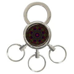 Rainbow Kaleidoscope 3-Ring Key Chains