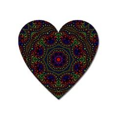 Rainbow Kaleidoscope Heart Magnet