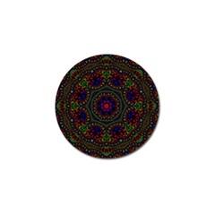 Rainbow Kaleidoscope Golf Ball Marker (4 pack)