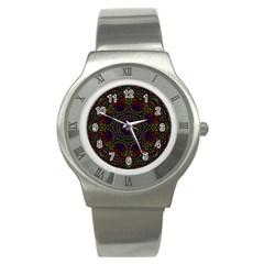 Rainbow Kaleidoscope Stainless Steel Watch