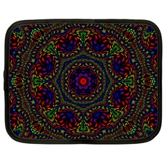 Rainbow Kaleidoscope Netbook Case (Large)
