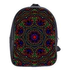Rainbow Kaleidoscope School Bags(Large)