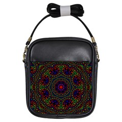 Rainbow Kaleidoscope Girls Sling Bags