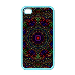 Rainbow Kaleidoscope Apple iPhone 4 Case (Color)