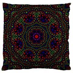 Rainbow Kaleidoscope Large Cushion Case (two Sides)