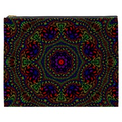 Rainbow Kaleidoscope Cosmetic Bag (xxxl)