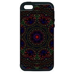 Rainbow Kaleidoscope Apple Iphone 5 Hardshell Case (pc+silicone)