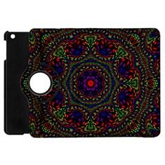 Rainbow Kaleidoscope Apple iPad Mini Flip 360 Case