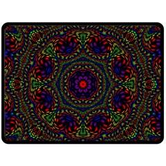 Rainbow Kaleidoscope Double Sided Fleece Blanket (Large)