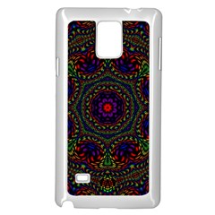 Rainbow Kaleidoscope Samsung Galaxy Note 4 Case (White)