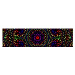 Rainbow Kaleidoscope Satin Scarf (Oblong)