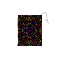 Rainbow Kaleidoscope Drawstring Pouches (XS)