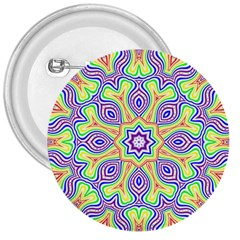 Rainbow Kaleidoscope 3  Buttons