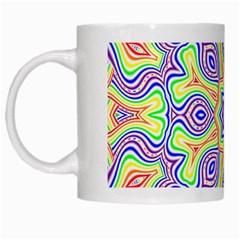 Rainbow Kaleidoscope White Mugs