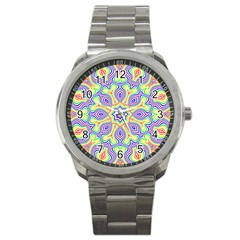 Rainbow Kaleidoscope Sport Metal Watch