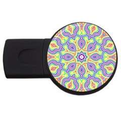Rainbow Kaleidoscope USB Flash Drive Round (4 GB)