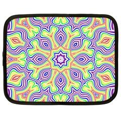 Rainbow Kaleidoscope Netbook Case (large)