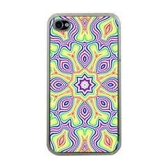 Rainbow Kaleidoscope Apple iPhone 4 Case (Clear)
