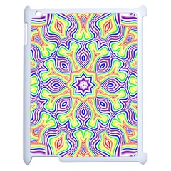 Rainbow Kaleidoscope Apple iPad 2 Case (White)