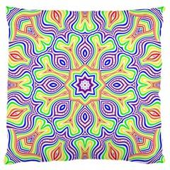 Rainbow Kaleidoscope Large Cushion Case (One Side)