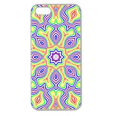 Rainbow Kaleidoscope Apple Seamless Iphone 5 Case (clear)