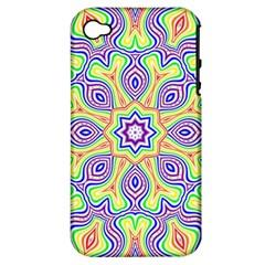 Rainbow Kaleidoscope Apple iPhone 4/4S Hardshell Case (PC+Silicone)