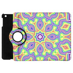 Rainbow Kaleidoscope Apple iPad Mini Flip 360 Case