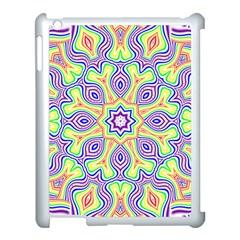 Rainbow Kaleidoscope Apple iPad 3/4 Case (White)