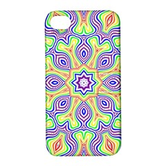 Rainbow Kaleidoscope Apple Iphone 4/4s Hardshell Case With Stand