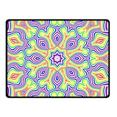 Rainbow Kaleidoscope Double Sided Fleece Blanket (Small)