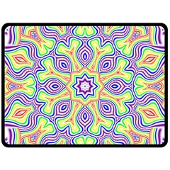 Rainbow Kaleidoscope Double Sided Fleece Blanket (Large)
