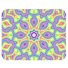 Rainbow Kaleidoscope Double Sided Flano Blanket (Medium)