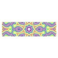 Rainbow Kaleidoscope Satin Scarf (oblong)