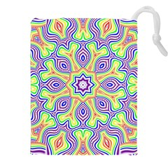 Rainbow Kaleidoscope Drawstring Pouches (XXL)