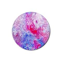 Glitter Pattern Background Rubber Coaster (round)