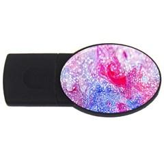 Glitter Pattern Background USB Flash Drive Oval (1 GB)