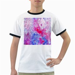 Glitter Pattern Background Ringer T-Shirts