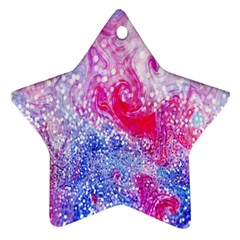 Glitter Pattern Background Star Ornament (two Sides)