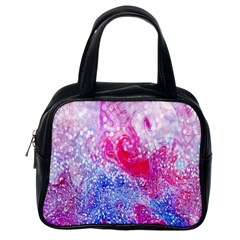 Glitter Pattern Background Classic Handbags (one Side)