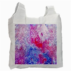 Glitter Pattern Background Recycle Bag (one Side)