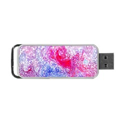 Glitter Pattern Background Portable Usb Flash (two Sides)
