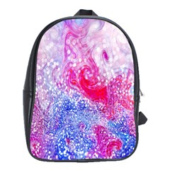 Glitter Pattern Background School Bags (XL)