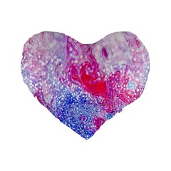 Glitter Pattern Background Standard 16  Premium Heart Shape Cushions