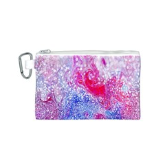 Glitter Pattern Background Canvas Cosmetic Bag (S)