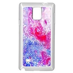 Glitter Pattern Background Samsung Galaxy Note 4 Case (White)